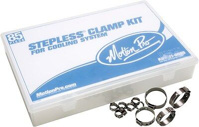 (Motion Pro 11-0065 Motorcycle Cooling System Stepless Clamp Kit, 85 Pcs With Box)