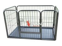 Puppy play pen/rabbit enclosure with base, medium size