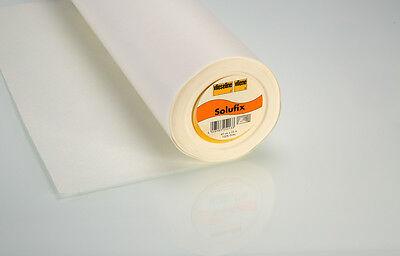 1m Vlieseline Solufix wasserlöslich selbsthaftendes Stickvlies 45 cm weiß
