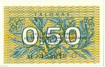 """LITAUEN: 0.50 Talonas 1991 --- ERROR --- P#31x1 -- """"valstybinis"""""""