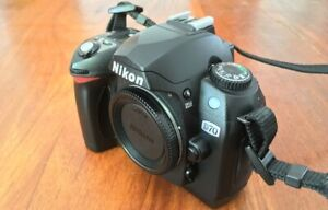 Nikon D70 - BODY ONLY, Batt, Charger, Strap, extras - LOW SHUTTER