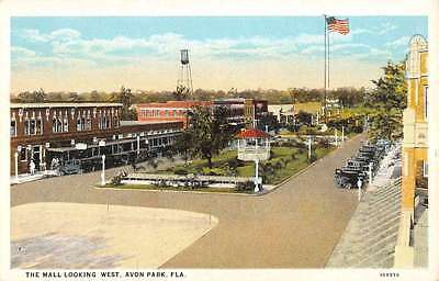 Avon Park Florida Mall Looking West Birdseyes View Antique Postcard (West Park Mall)