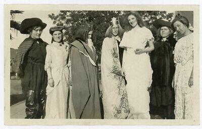Antique Photo Women Halloween Costume Actor Actress Play Theater Acting Unusual