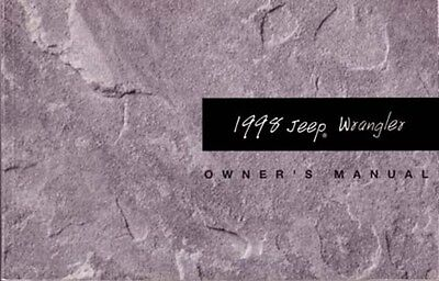1998 Jeep Wrangler Owners Manual User Guide ()