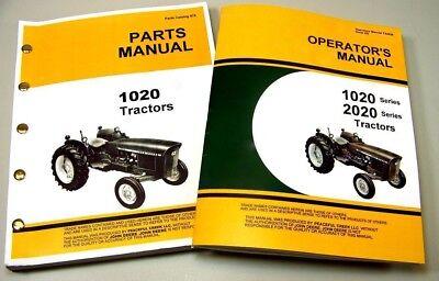 Operators Parts Manual Set For John Deere 1020 Tractor Owner Catalog Gas Diesel