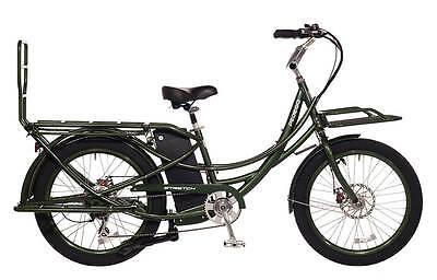 Pedego Stretch Electric Cargo Bike 48V17AH Authorized Dealer Olive Green NEW