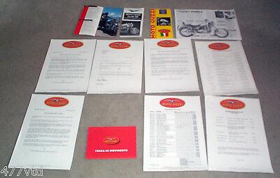 MOTO GUZZI RANGE COLOUR BROCHURE & INFO / LITERATURE. RARE. EXCELLENT CONDITION