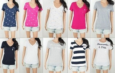 NWT Abercrombie Women's T Shirt V Neck/Crew Pocket Tee By Hollister