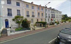 2 bedroom first floor flat 5 minutes walk to Torquay centre. Refurbished. Garage available.