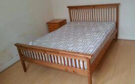 Double Pine Wood Bedstead
