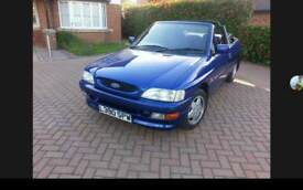Ford Escort Cabriolet Si 130psi 5 seat convertible with only low 34k miles on the clocks. RARE CAR!.
