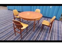 Mid Century' Elliots of Newbury (EoN) Chairs Immaculate Teak With Table,Can deliver