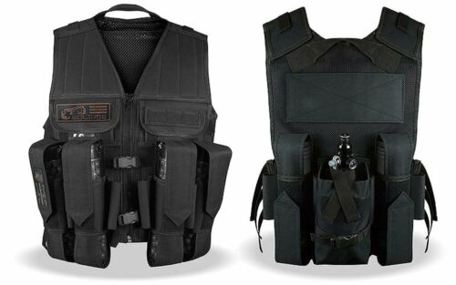 Planet Eclipse Tactical Load Vest Paintball Pod Harness 6+10 Polyester Black