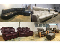 Harveys, DFS, John Lewis leather sofas, corners, recliners DELIVERY AVAILABLE