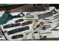 Old tools planes saws ect