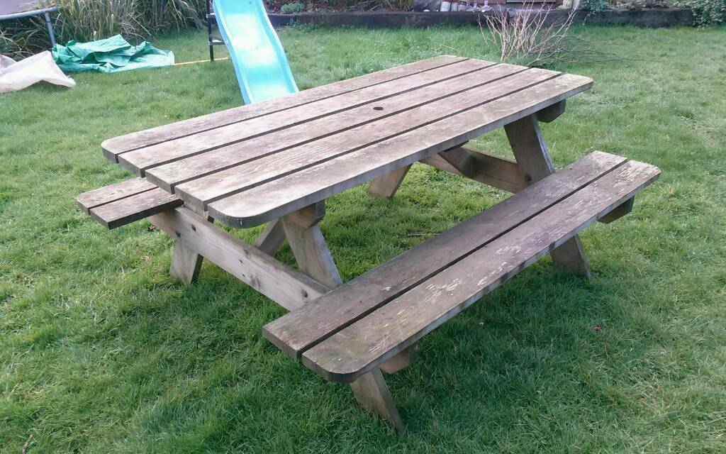 Terrific Solid Chunky Garden Bench In Yeovil Somerset Gumtree Andrewgaddart Wooden Chair Designs For Living Room Andrewgaddartcom