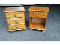 Pair of Solid Pine Bedside Cabinets #1
