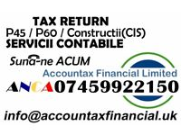Bookkeeping, Tax Returns / Self Assessment/CIS, Payroll/RTI & VAT