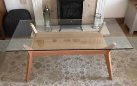 John Lewis Akemi glass top coffee table