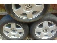 Volkswagen golf alloys