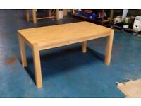 SOLID OAK DINING TABLE (ITEM 15)