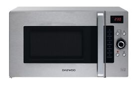Daewoo koc9q4t stainless steel combination microwave £25 ono 07503295409 1 yr old Average condition