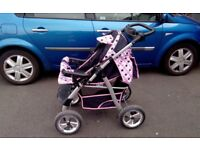 Pram / Push Chair + Matching Carry Cot