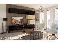 "FURNITURE TV Unit Cabinets Gloss SONOMA Wall Unit ""C 16 Vivir "" LED lights Living Room"