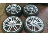 19 AUDI RS4 STYLE ALLOY WHEELS A4 GOLF MK5 6 PASSAT SEAT LEON TOLEDO VW 5 X 112