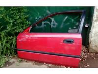 Honda civic 3 Dr red front pass door - more