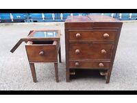 Antique Victorian Chest of draws/Music Center/Record Cabinet