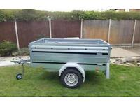 New Brenderup Car trailer 1205s tipping model kippi 200 with extension sides.