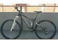 Full suspension mountain bike, serviced & including shock pump