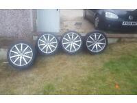 4 x VW golf MK5 18 inch rims + wheels for Sale