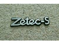 Mk5 Fiesta Zetec S Rear Badge (Adhesive/Stick-on)