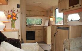 Bedsit type accomodation in caravan with adjacent parking