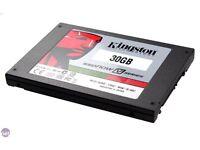 "My SSD Drive 30GB 2.5"" SATA Kingston. May Swap!"