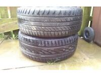 Tyres for sale. BARGAIN at £25 for 2 tyres