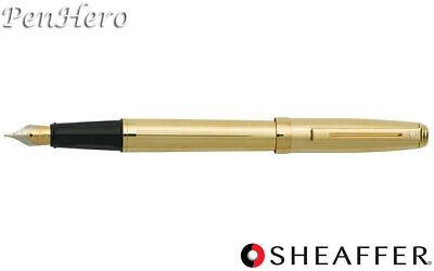 - Sheaffer Prelude Fluted 22K Gold Plate Fountain Pen Medium368-0