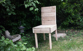 Handmade wooden chair from upcycled wood - *Renniesfurniture*