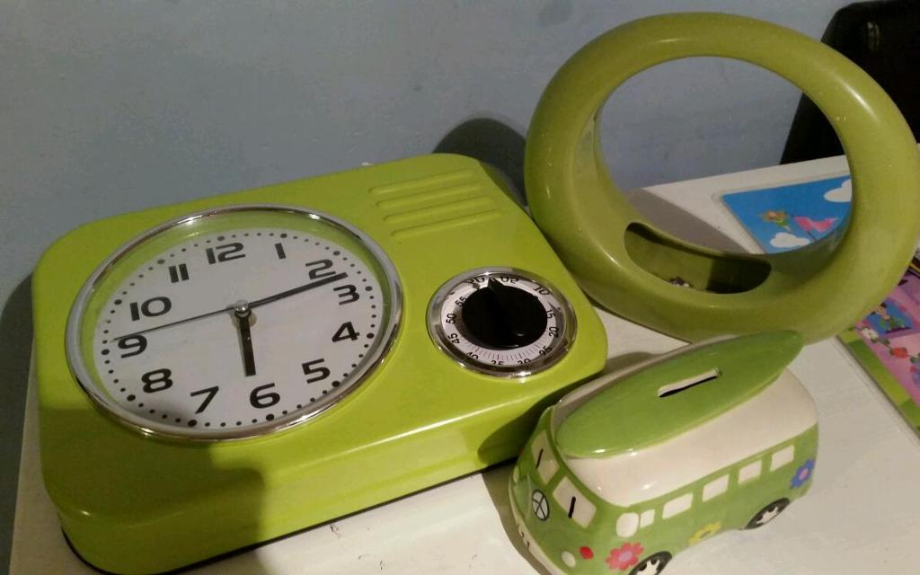 Lime green household items
