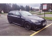 BMW 530D - M-Sport - Brown leather and wood trim interior - Sapphire black finish
