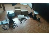 2 uhf two way radios and 1 dmr radio