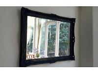 Heavy solid guilt framed bevelled edge mirror