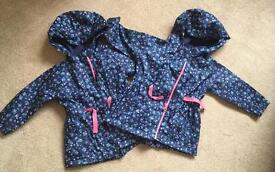 2 x Raincoats 9-12 months