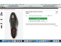NEXT Italian Leather Shoes Mens size 8