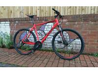 Cube Nature Pro men's hybrid bike, red, 2015 model, 58cm frame