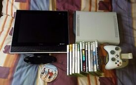 Xbox 360 250GB, 12 games, TV with built in DVD player games bundle!