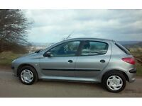 2002 PEUGEOT 206 LX HDI 1.4 DIESEL £30 TAX A YEAR MOT & TAX 55 MPG CHEAP RELIABLE DRIVES LOVELY