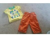 Baby boy trousers and t-shirt 6-9 months £1